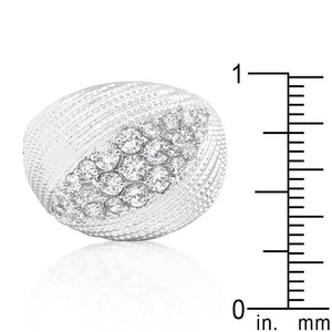 Classic Cubic Zirconia Dome Ring - Jewelry Xoxo