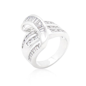 Channel Set Overlap Ring - Jewelry Xoxo