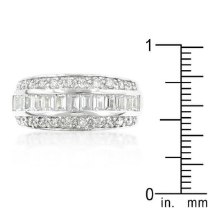 3-Row Cubic Zirconia Band - Jewelry Xoxo
