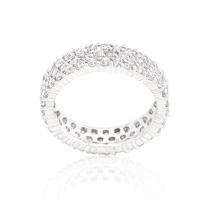 Pave Eternity Ring - Jewelry Xoxo