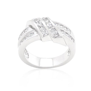 Cubic Zirconia Double Knot Ring - Jewelry Xoxo