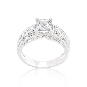 Cubic Zirconia Princess Cut Ring - Jewelry Xoxo