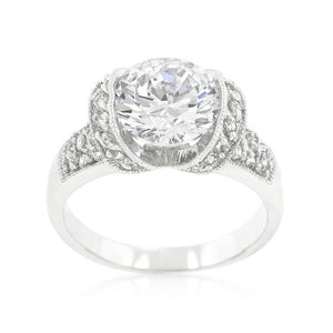 Tension Set Cubic Zirconia Engagement Ring - Jewelry Xoxo