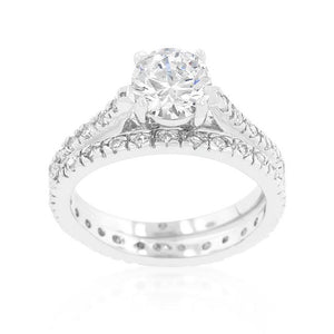 Glistening Engagement Ring Set - Jewelry Xoxo