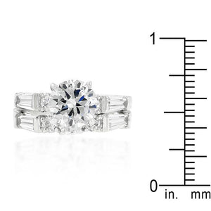 Engagement Set with Large Center Stone - Jewelry Xoxo
