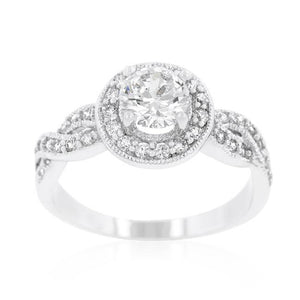 Round Cut Halo Engagement Ring - Jewelry Xoxo