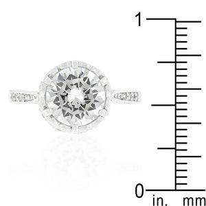 Royal Crest Filigree Cubic Zirconia Ring - Jewelry Xoxo