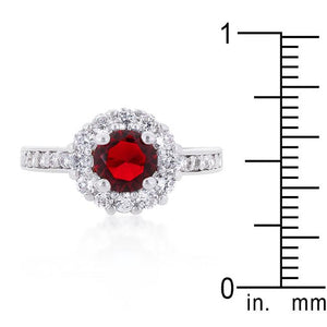 Garnet Halo Engagement Ring - Jewelry Xoxo