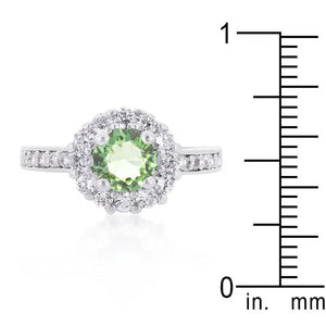 Bella Birthstone Engagement Ring in Green - Jewelry Xoxo