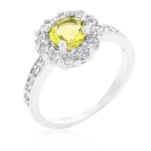 Bella Birthstone Engagement Ring in Yellow - Jewelry Xoxo