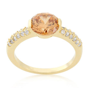Champagne Isabelle Engagement Ring - Jewelry Xoxo