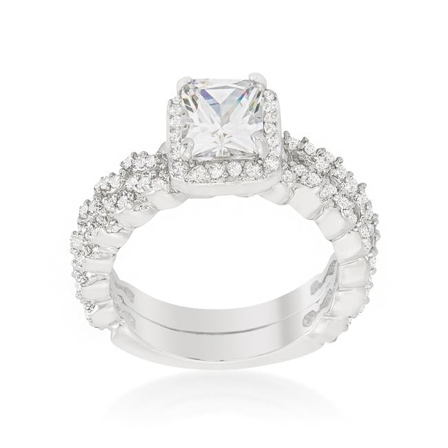 Halo Radiant Wedding Set