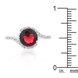 Red Swirling Engagement Ring - Jewelry Xoxo