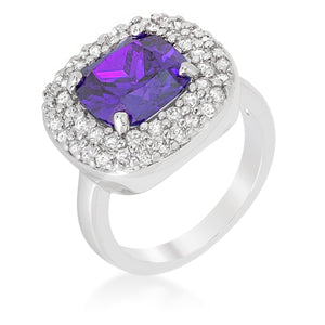 Micropave Purple Bridal Cocktail Ring - Jewelry Xoxo