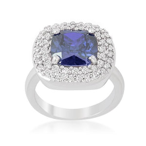 Micropave Lavender Purple Bridal Cocktail Ring - Jewelry Xoxo