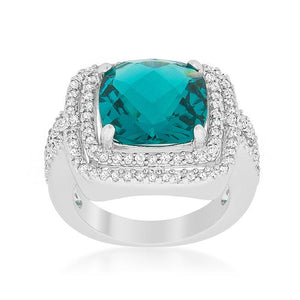 Candy Aqua Cocktail Ring - Jewelry Xoxo