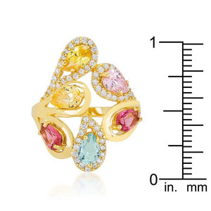 Multi-Color Cocktail Ring - Jewelry Xoxo