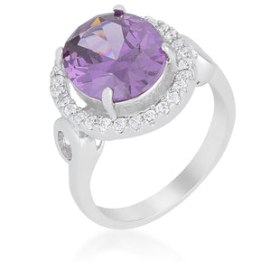 Amethyst Halo Cocktail Ring - Jewelry Xoxo