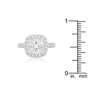 Halo Style Cushion Cut Engagement Ring - Jewelry Xoxo