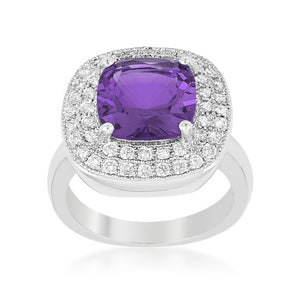 Purple Bridal Cocktail Ring - Jewelry Xoxo