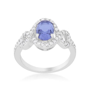 Tanzanite Halo Pave Cocktail Ring - Jewelry Xoxo