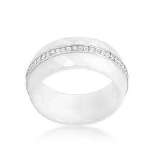 Ceramic Band Ring - White - Jewelry Xoxo