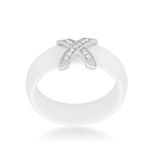 Modern Classic X Ring - White - Jewelry Xoxo