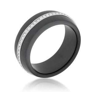 Ceramic Band Ring - Black - Jewelry Xoxo