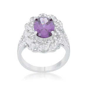 Amethyst Oval Classic Ring - Jewelry Xoxo