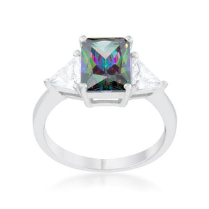 Classic Mystic Sterling Silver Engagement Ring - Jewelry Xoxo