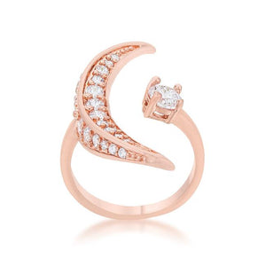 Luna .75ct CZ Rose Gold Delicate Ring - Jewelry Xoxo