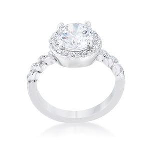 Jordana 2.2ct Clear CZ Rhodium Classic Ring - Jewelry Xoxo