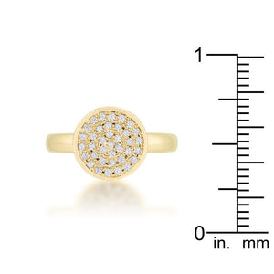 Krystal 0.2ct CZ 14k Gold Pave Circle Ring - Jewelry Xoxo