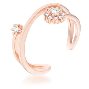 Krista 0.25ct CZ Rose Gold Abstract Wrap Ring - Jewelry Xoxo