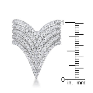 Vera 1.42ct CZ Rhodium Vintage Inspired Cocktail Ring - Jewelry Xoxo