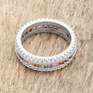 Paula 1.75ct Multicolor CZ Classic Band Ring - Jewelry Xoxo
