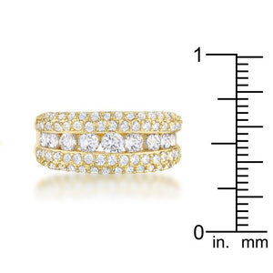 Luna 1.1ct CZ 14k Gold Classic Band Ring - Jewelry Xoxo