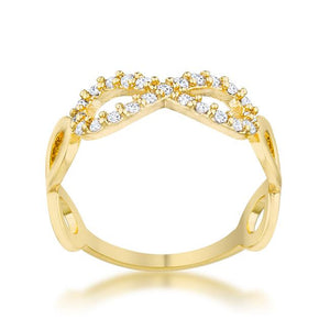 Mina 0.35ct CZ 14k Gold Infinity Ring - Jewelry Xoxo