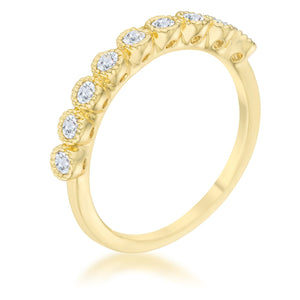 Bea 0.27ct CZ 14k Gold Delicate Band - Jewelry Xoxo