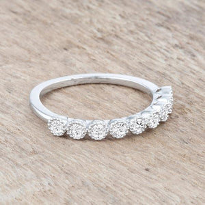 Bea 0.27ct CZ Rhodium Delicate Band - Jewelry Xoxo