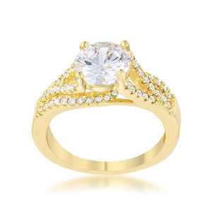 Irine 2.3ct CZ 14k Gold Classic Ring - Jewelry Xoxo