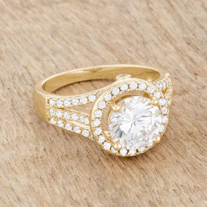 Marylin 2.5ct CZ 14k Gold Classic Ring - Jewelry Xoxo
