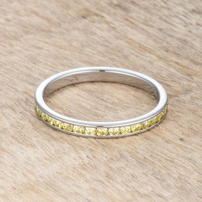 Teresa 0.5ct Jonquil CZ Stainless Steel Eternity Band