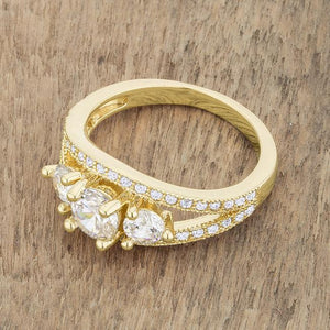 Geneviere 1.45ct CZ 14k Gold Classic Ring - Jewelry Xoxo