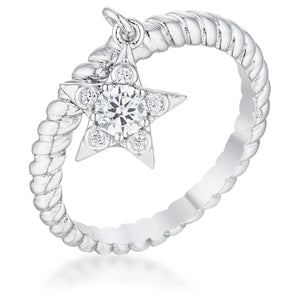 Cubic Zirconia Star Charm Fashion Ring - Jewelry Xoxo