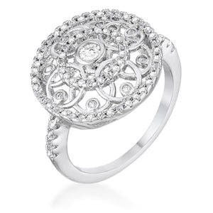 .5 Ct Interlocking Circles Ring with CZ - Jewelry Xoxo