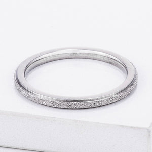 Diamond Cut Stainless Steel Stackable Ring - Jewelry Xoxo
