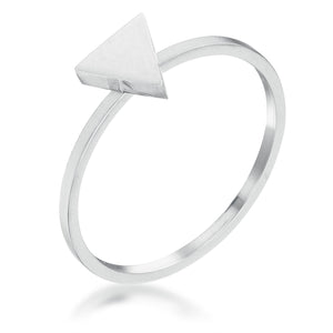Stainless Steel Triangle Stackable Ring - Jewelry Xoxo