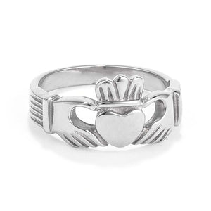 Stainless Steel Irish Claddagh Ring - Jewelry Xoxo