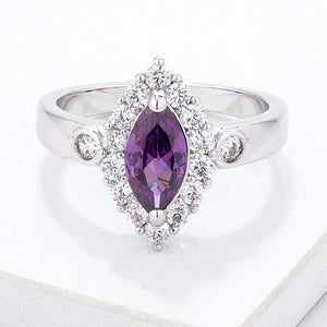 Stunning 1 Ct. Marquise Halo Ring - Jewelry Xoxo
